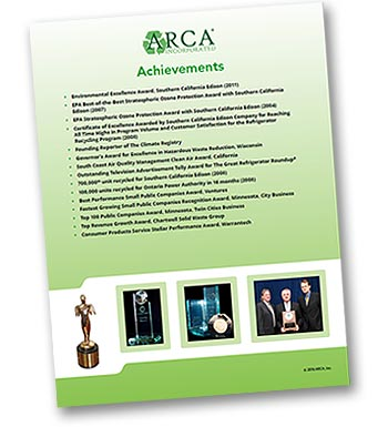 ARCA Inc. environmental awards, achievements and affliations.